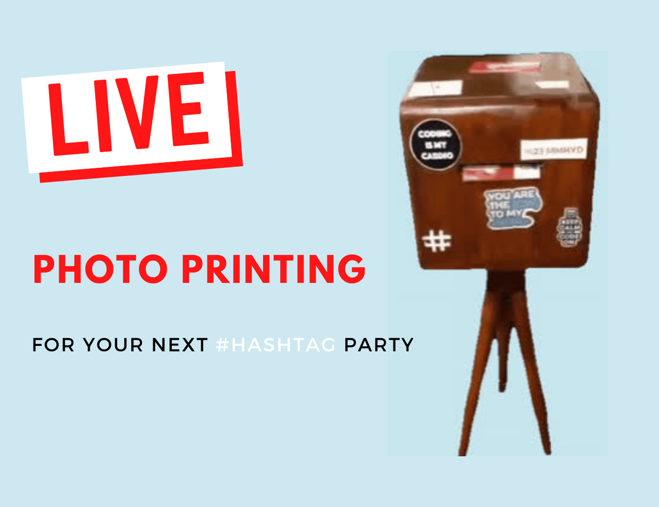live photo printing at events