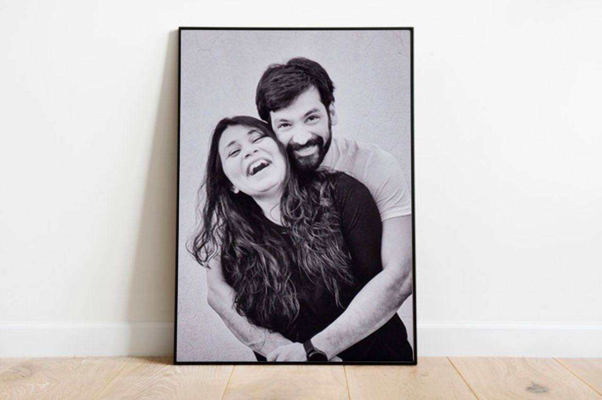 larger sized prints on a wall