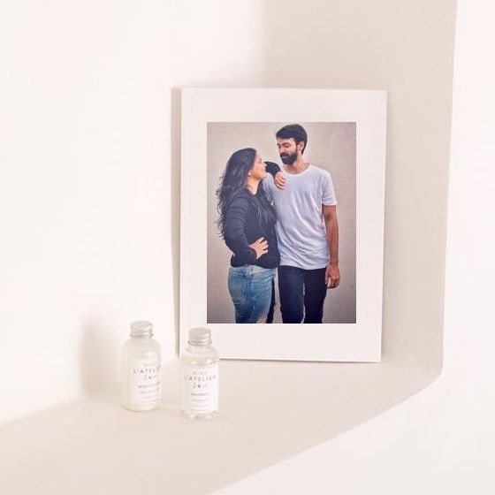 framed high quality print of a couple