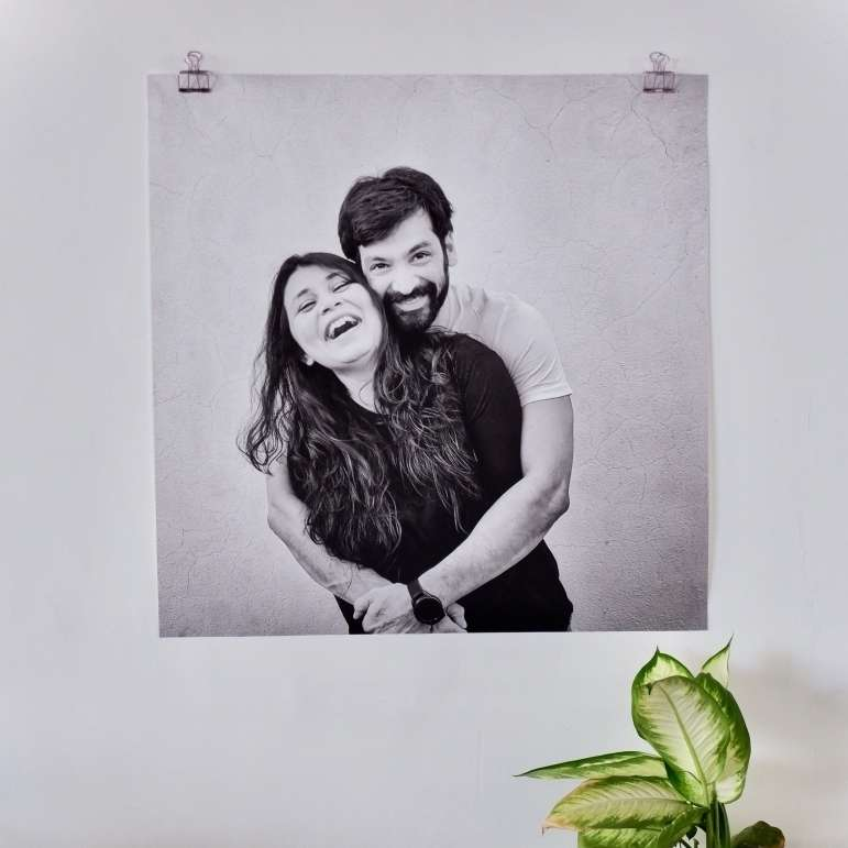 large print of couple